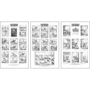 """Planches (3) de """"L'ÉCOLE DE CAVALERIE"""""""